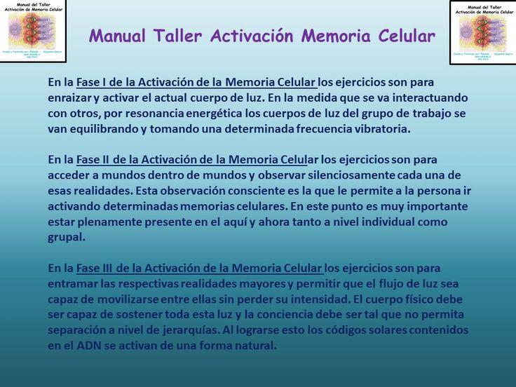 Detalle del Manual del Taller Activación de Memoria Celular