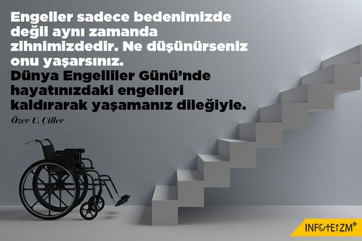 Hayatınızdaki engelleri kaldırın. Dünya Engelliler Günü...