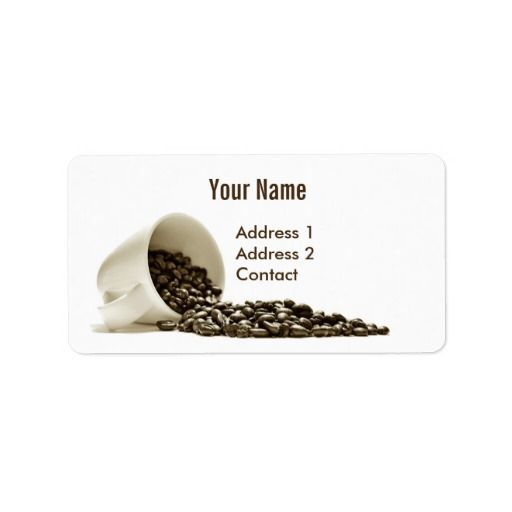 Coffee Address Label  #Coffee #Address Label #Colorful #Label   #name #contact #office #zazzle