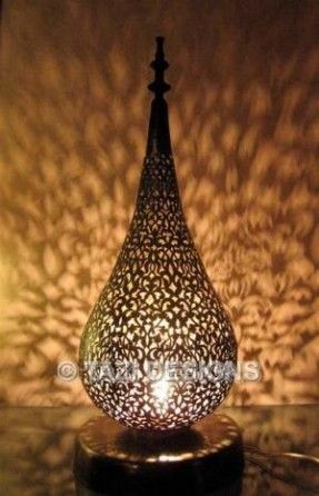 Pear Table Lamp Moroccan Lighting. Elegant And Refined, This Moroccan Table  Lamp Casts Beautiful