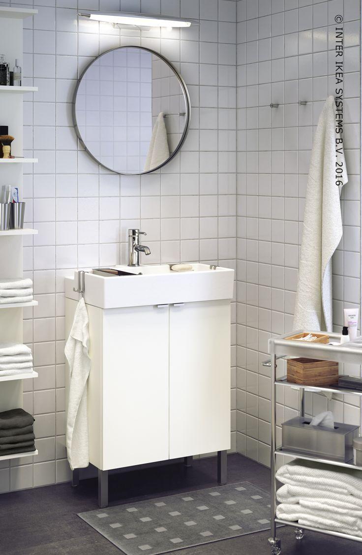 agrandissez votre salle de bain avec un look sobre meuble de rangement lillangen ikeabe
