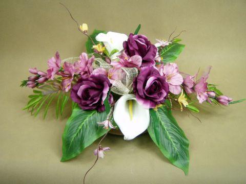 GLADIOLA lila-róż RÓŻE fiolet 2860 STROIK NA GRÓB  sztuczne kwiaty - zdjęcie 1