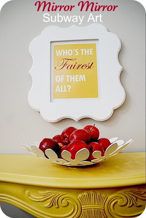 several free printable inspired by new Snow White movie Mirror Mirror - several color options to choose from
