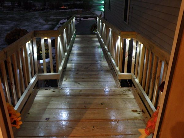 10 Great Deck Lighting Ideas For Your Outdoor Patio: 10 Best Images About Handicap Ramp On Pinterest