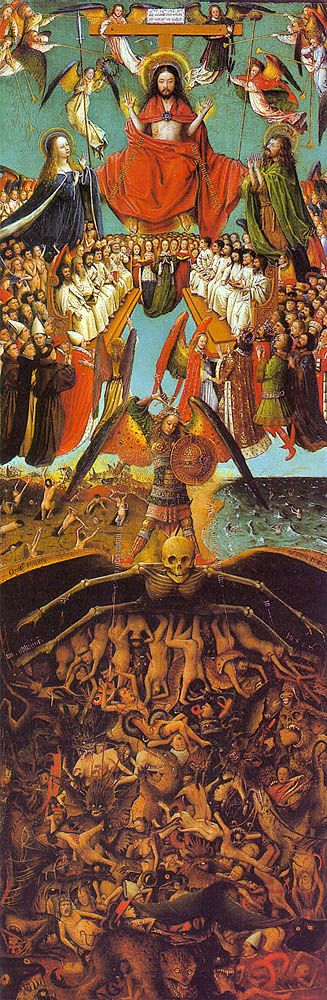 Le Jugement dernier ; atelier de Jan van EYCK ; 1420-25 huile sur panneau…