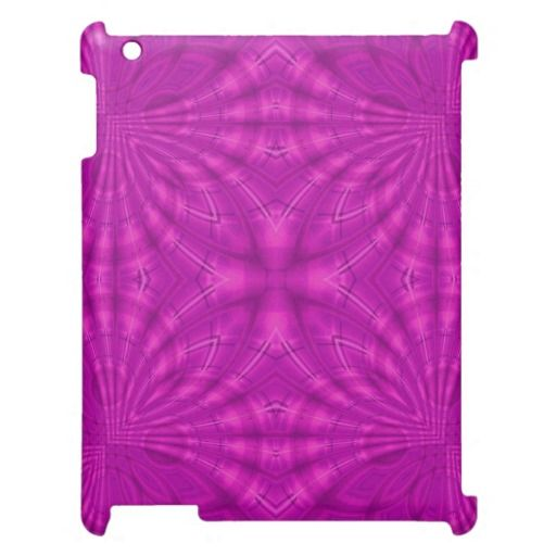 Purple abstract pattern iPad cover