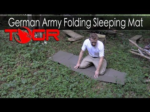 The Outdoor Gear Review: German Army Folding Sleeping Mat