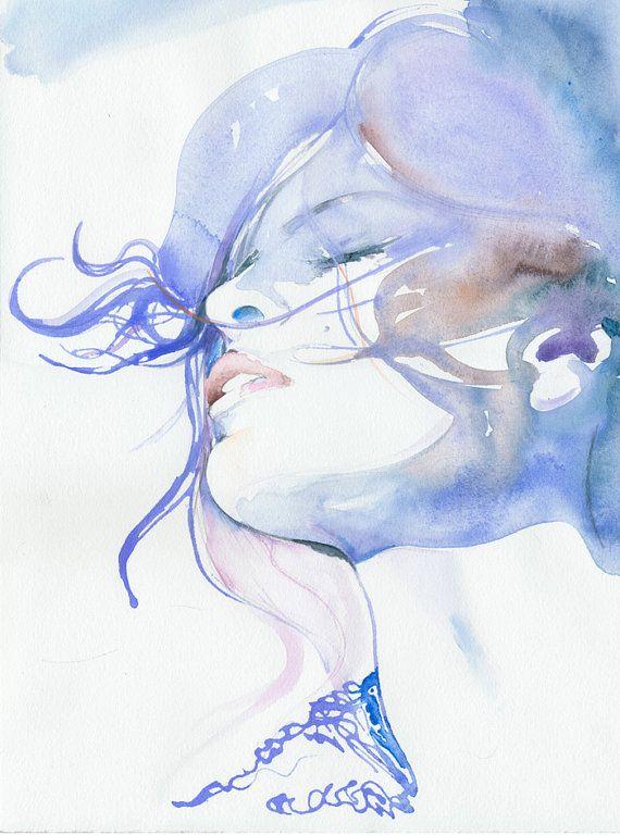 #watercolor #fashion #illustration