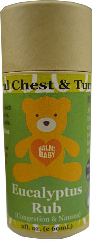 BALM! BABY EUCALYPTUS RUB! STICK! NATURAL CHEST & TUMMY AID - 2OZ.