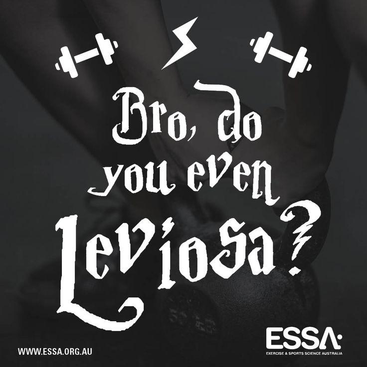 Bro, do you even leviosa? #HarryPotter #ExerciseRight