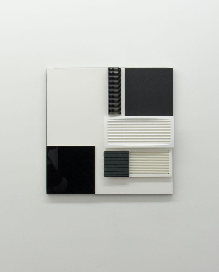 Hartmut Bhöm - KONTRAST B / W - 2015 - CONTRAST B / W - 2015 - Mixed Media; 55 x 55 x 5 cm