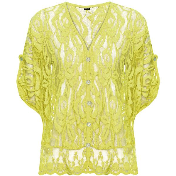 WearAll Plus Size Floral Lace Short Batwing Sleeve Top ($34) ❤ liked on Polyvore featuring plus size women's fashion, plus size clothing, plus size tops, yellow, batwing tops, short tops, lace top, womens plus tops and plus size floral tops