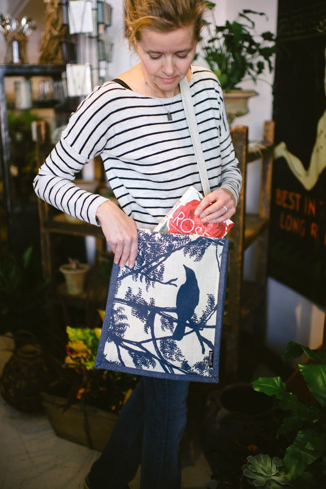2014 herald's the arrival of the Tree Bird print for Freeset's classic Freedom bag.   Photo by Calvina Photography
