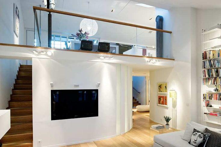 interior design sweden - staircase design at Stunning Loft House with the Best Interior ...