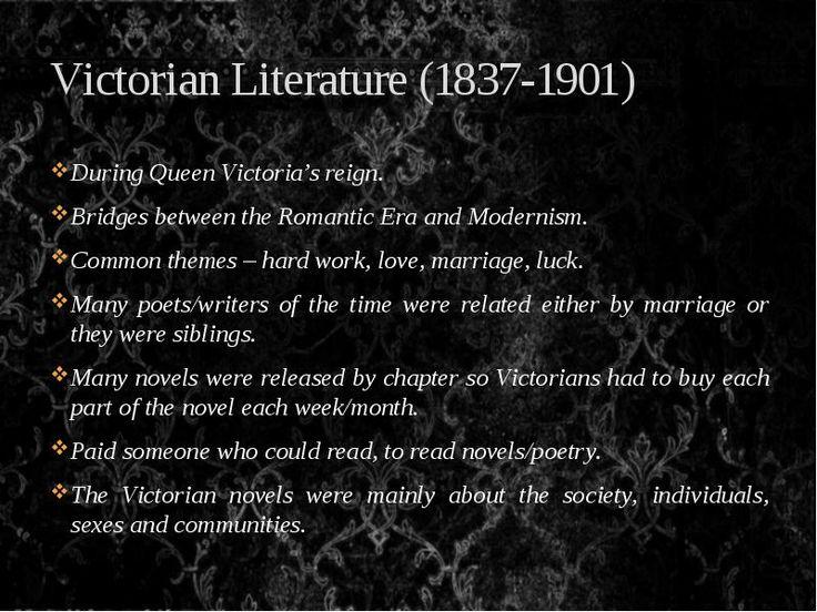 Victorian Literature 18301900