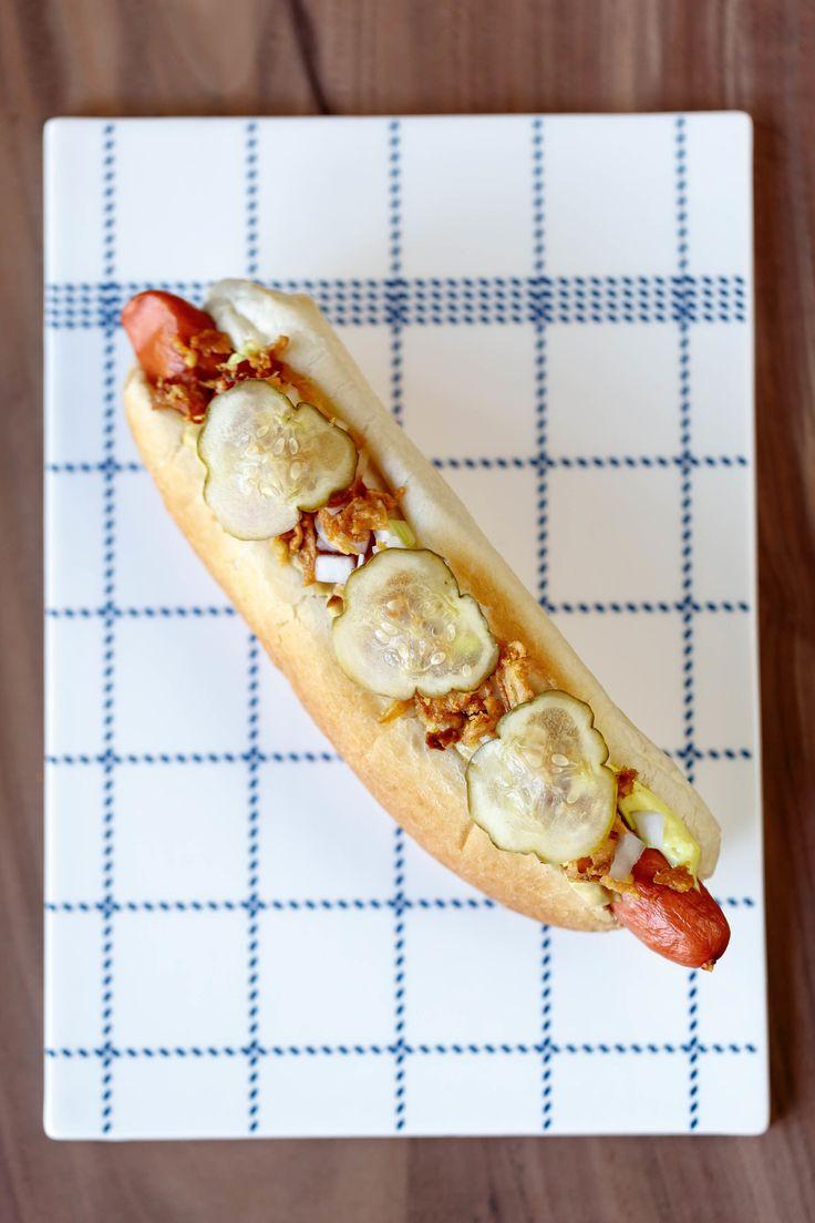 Grab a hotdog for lunch! The traditional #Danish hotdog is definitely a must-try! #danish #food