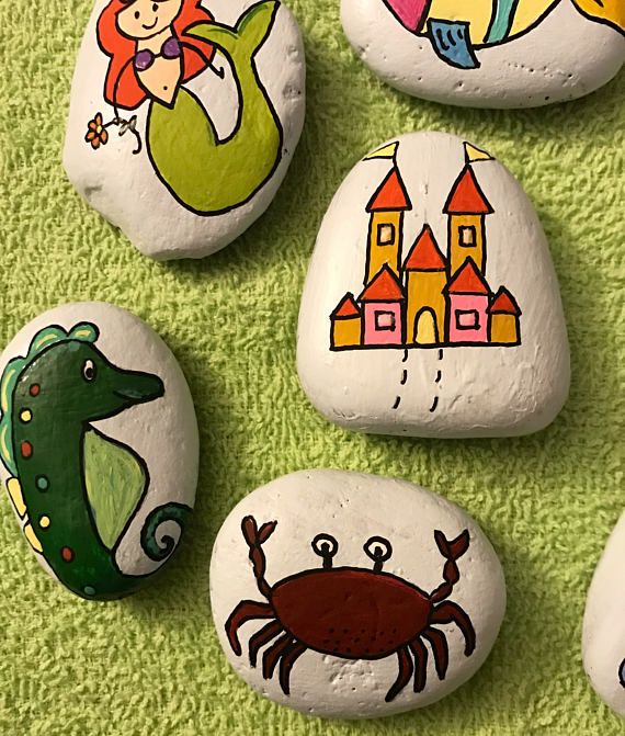 Story Stones Sea Life Fairytale Theme 8 Piece Set