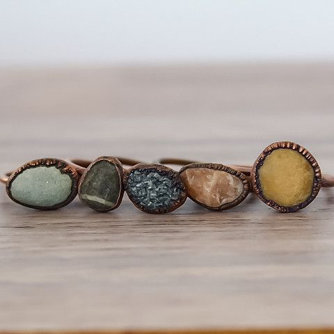 Pebble and Copper Ring | Bohemian Jewelry | Indie and Harper