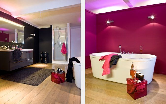 Welk Hout In Badkamer ~ Colored bathroom  deco  Pinterest