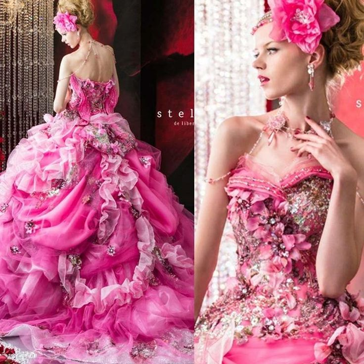 Стелла Де Либеро Бисера #Свадебные Платья# Rhinestone Аппликация Цветы Свадебные Бальные Платья Этаж Длина Платья Рюшами Свадьба Отhuifangzou В Категории Взъерошенное