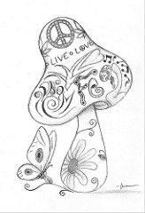 trippy mushroom coloring pages - Google Search