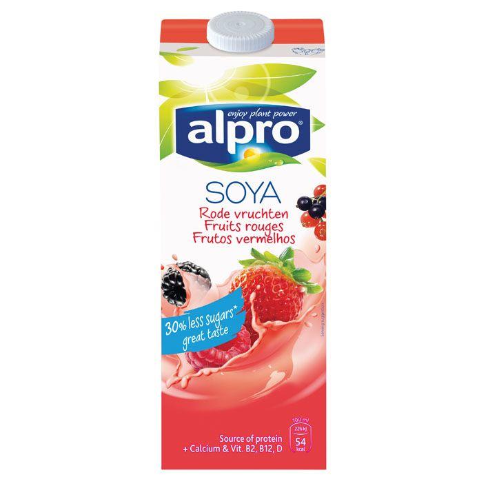 Alpro Sojadrink rode vruchten #vegan