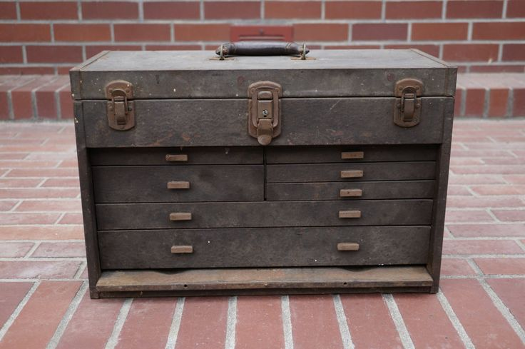 Vintage Kennedy Tool Box  Antique Metal Tool by thevintageparadigm, $98.00