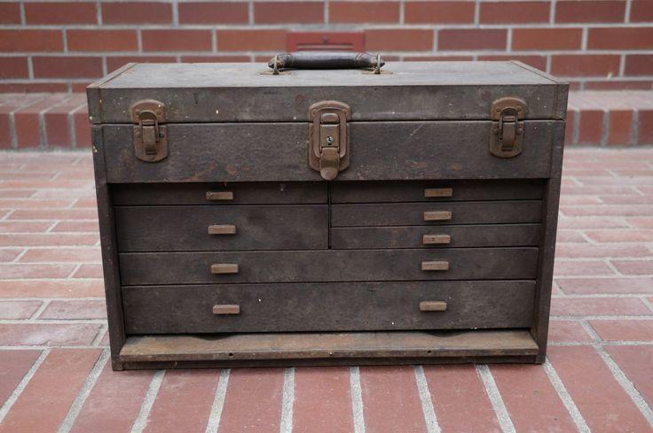 Vintage Kennedy Tool Box  Antique Metal Tool by thevintageparadigm, $98.00