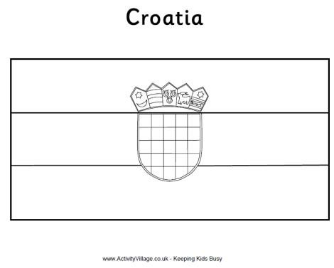 Croatian Flag Coloring Page