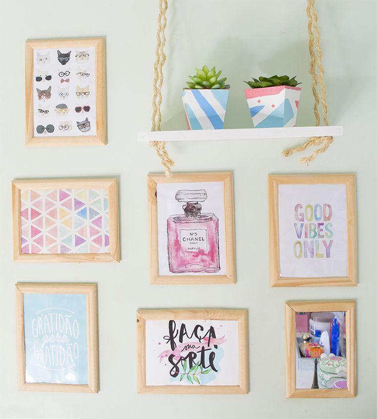 DIY – Ideias FÁCEIS e BARATAS de decoração para o quarto #04