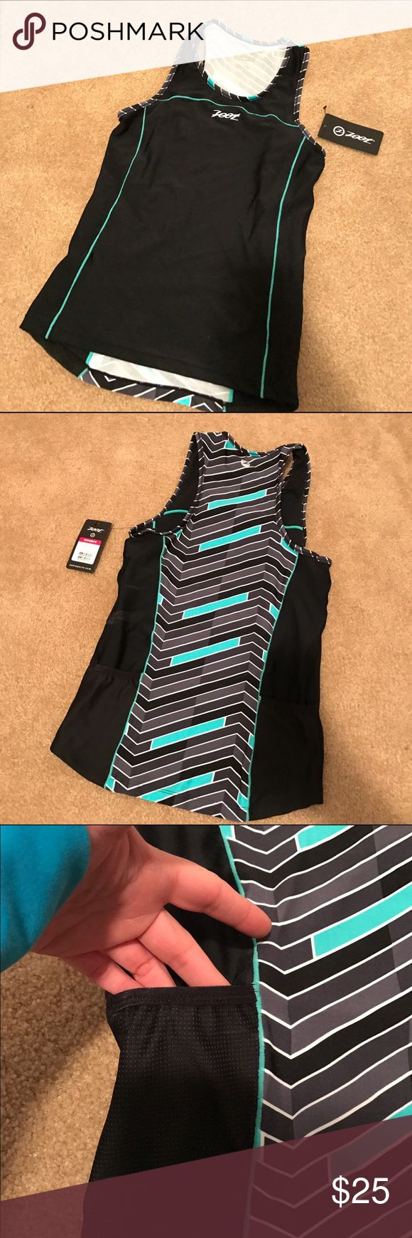 Zoot women's Triathlon performance tank Brand new with tags still on. Pockets on side. It fits snug. Zoot Tops Tank Tops
