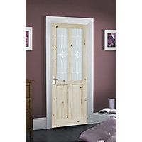 London 2 Light Glazed Internal Door - 762mm wide Homebase £59.99