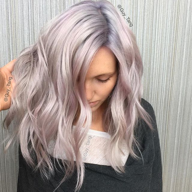 Get your tickets for the Hair Battle LIVE event on Feb 20 at @cosmoprofbeauty. SKU number 987181. #Hairbesties Metallic using @kenraprofessional and @olaplex with 7sm on rootagé and 8sm everywhere else ! And #olaplex and Violet color creative with HairBestie @kasekathleen