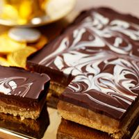 Millionaires' Shortbread - great instructions from Carnation's website.