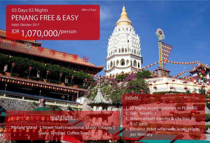 Mastravelbiro ada promo tour ke Penang Free & Easy 3 Hari 2 Malam. Harga dimulai dari Rp 1.070.000😊  Buruan booking!👇 Phone : 021 55780317 WA : 081298856950 Email : tourhotel.metos@mastravelbiro.com  #mastravelbiro #Promotour #penang #promotravel #travelagent #tourtravel