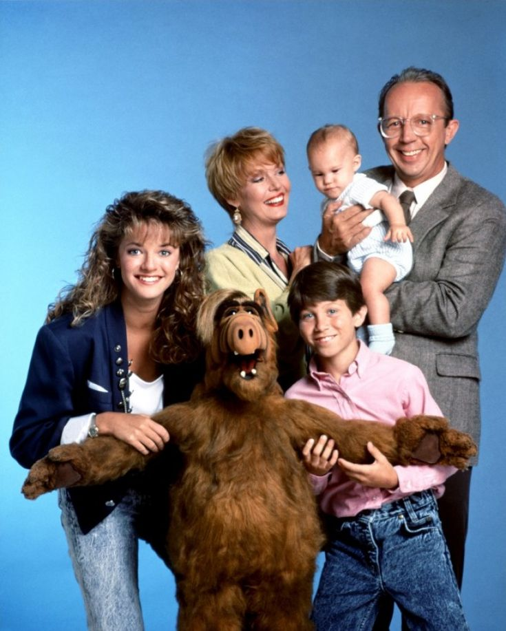 "The cast of the 1980's TV show ""ALF""."