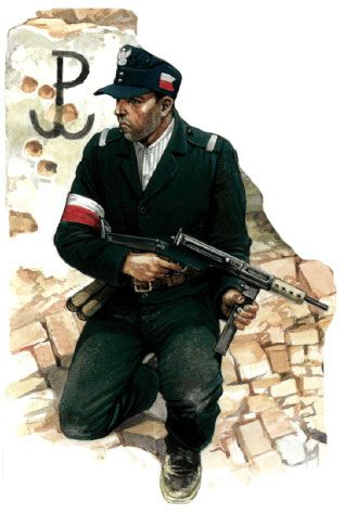 Warsaw uprising -Sten Gun trooper, pin by Paolo Marzioli