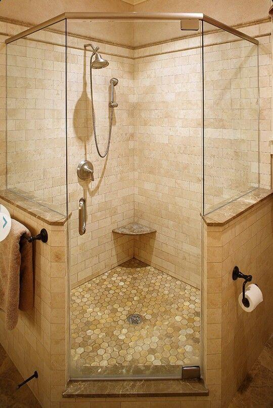 Corner shower nib