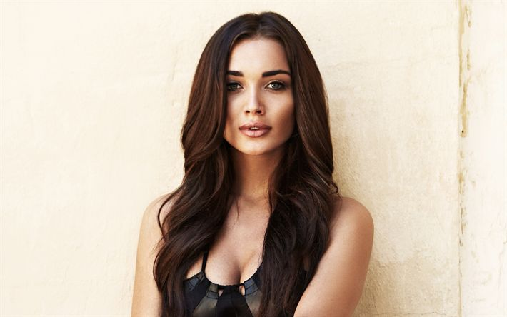 Download wallpapers Amy Jackson, english actress, 2017, beauty, top-models, brunette