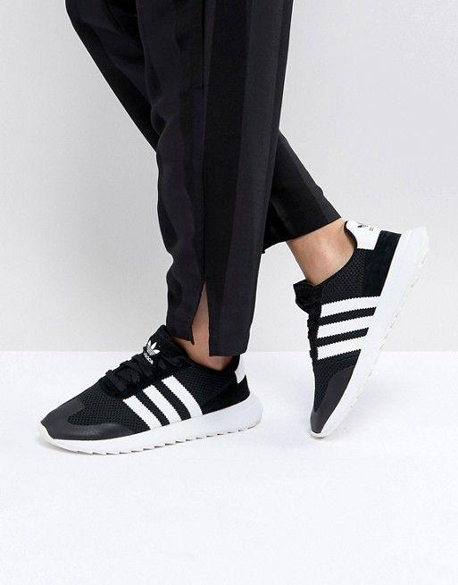 5614685e2 adidas Originals FLB Runner Trainers In Black