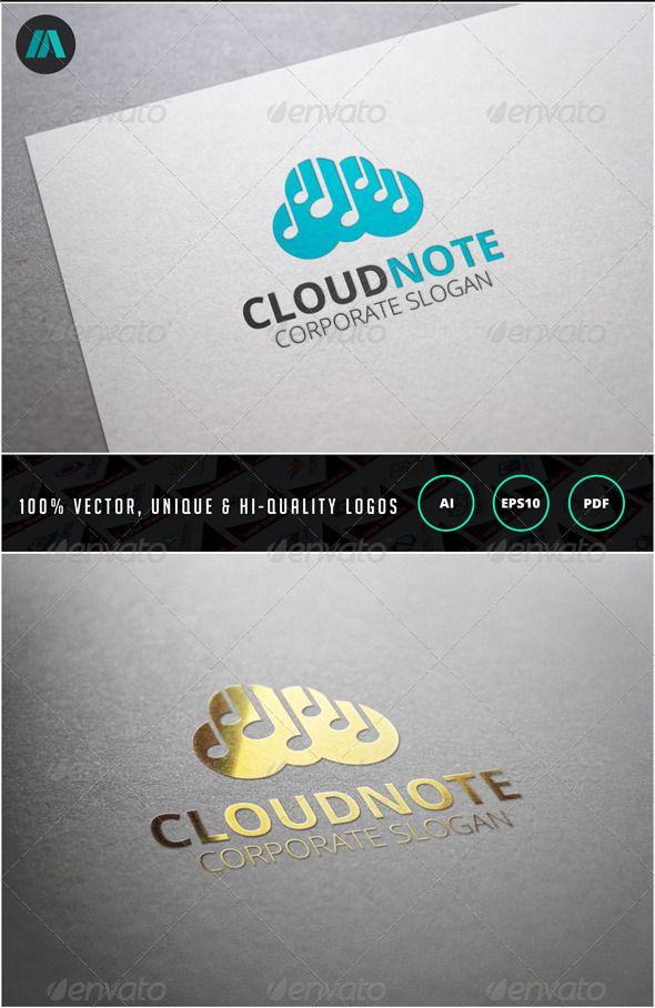 Cloud Note Logo Template 25 best Logo