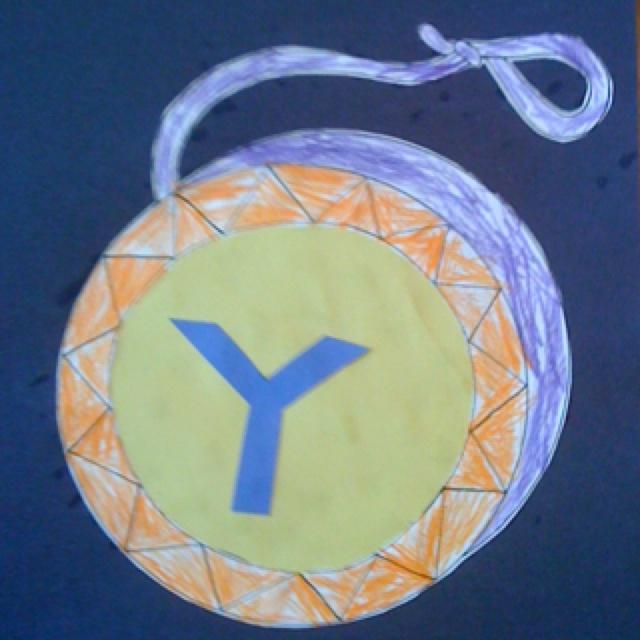 letter y craft yoyo