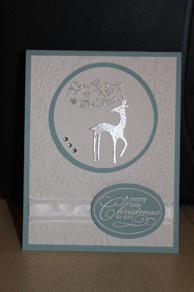 SU Dasher card embossed in silver - bjl