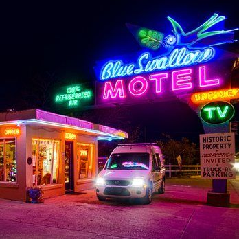 Photo of Blue Swallow Motel - Tucumcari, NM, United States. Iconic Route 66 photo.