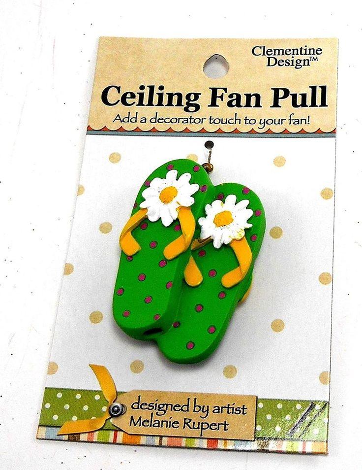 TiKi Beach Sandals FlipFlops Decor Ceiling Fan Light Pull #Clementine