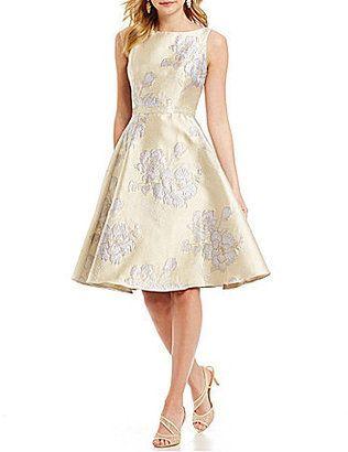 Adrianna Papell Beaded Waist Full Circle Skirt Dress - $229.00