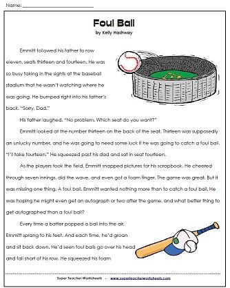 Printables Super Teacher Worksheets 5th Grade 1000 images about super teacher worksheets on pinterest check out our 3rd grade reading comprehension page to use this passage a foul ball