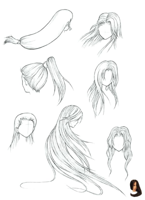 Art Complete Drawing Easy Hairstyles Drawing Ignition List Tu Tutorials Update S The Complete Li Manga Hair Drawing Hair Tutorial Straight Hairstyles
