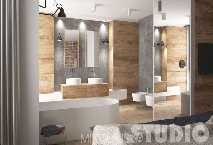 Salon kąpielowy w stylu industrialnym #łazienka #loft
