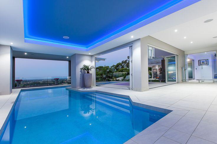 luxury pool room, modern indoor pool, luxury house, Brisbane, Sunshine Coast, Queensland, minka joinery